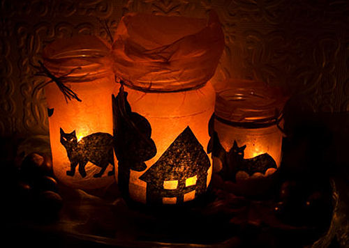 Diy Spooky Mason Jar Halloween Luminaries