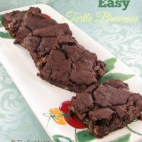 These delicious brownies have the decadent taste of turtle candy.