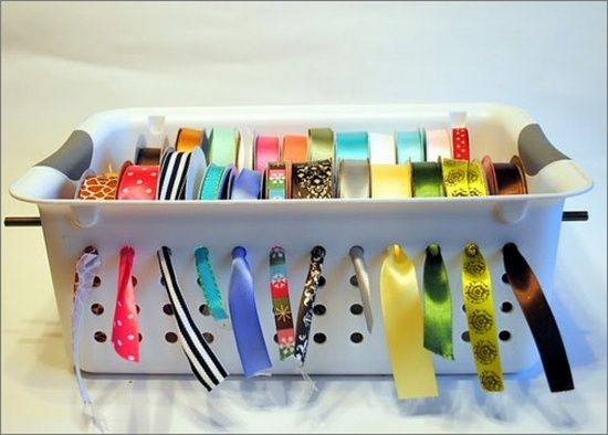 DIY ribbon holder from spunkyjunky.blogspot.com