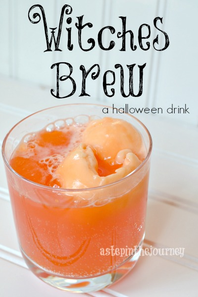 Witches brew sherbet drink