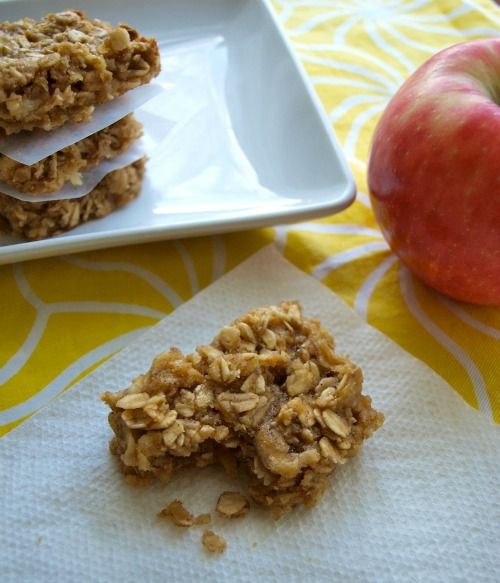 Apple peanut butter snack bar from happyhealthymama.com