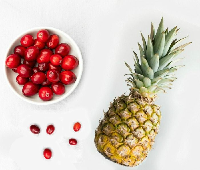 cranberries and pineapple