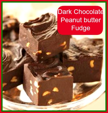 Dark chocolate peanut butter fudge.