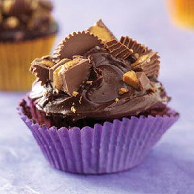 Peanut butter chocolate cupcakes from tasteofhome.com