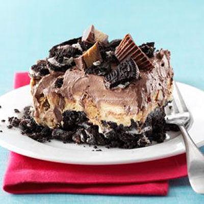 Peanut butter chocolate dessert from tasteofhome.com