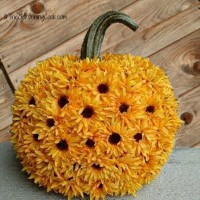 No Carve Sun Flower Pumpkin