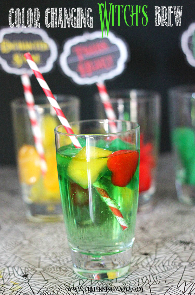 Color changing witches brew punch