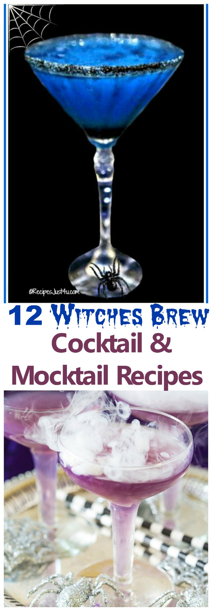 These 12 Witch Brew Cocktails and Mocktails are the perfect way to set the mood for a Halloween party.
