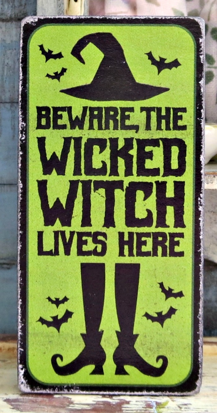 Wicked witch sign