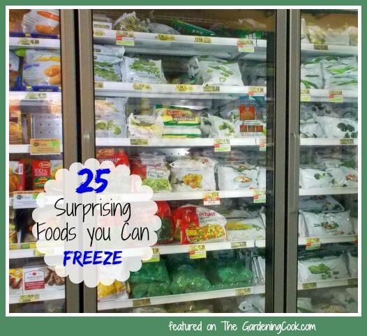 25 surprising foods you can freeze