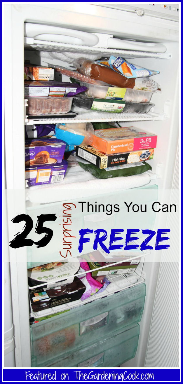 25 Surprising things you can freeze