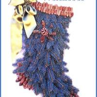 DIY Blue Spruce Stocking Wreath
