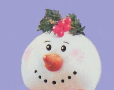 decorated snowman head
