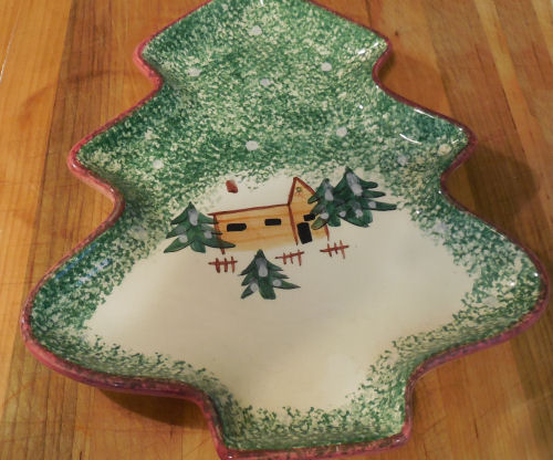 Christmas tree serving dish