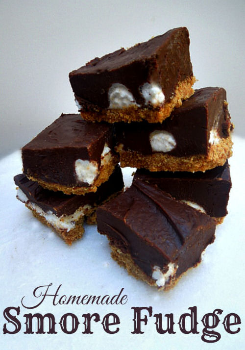 S'mores chocolate fudge from missinformationblog.com