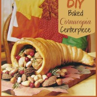 DIY Baked Cornucopia