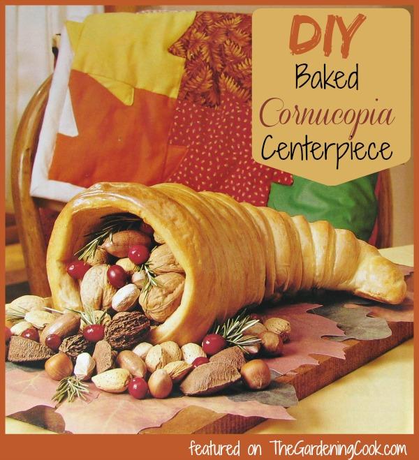 DIY Baked Cornucopia Centerpiece for your Thanksgiving Table