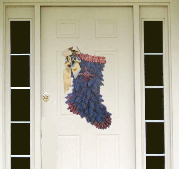 DIY Blue spruce stock wreath adds a nice pop of color