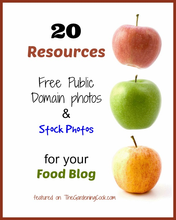 20 Free Resources for Public Domain Photos and Stock photos for your food blog.