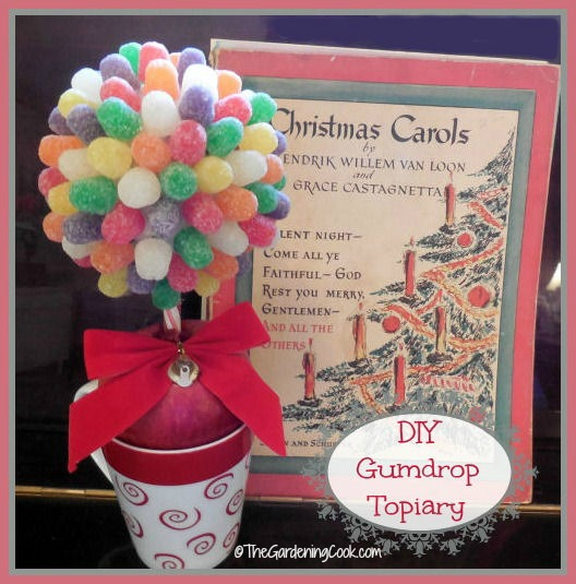 Miniature gumdrop topiary