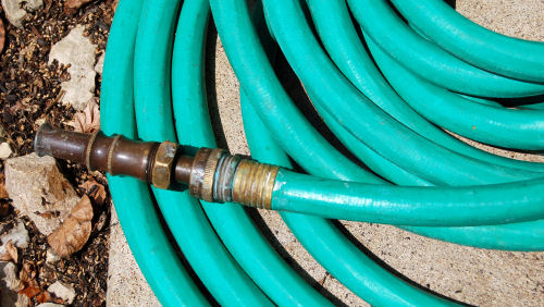 Winterize garden tools.  Repair fixing on hoses