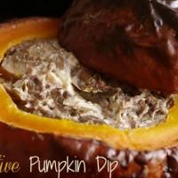 Festive pumpkin dip