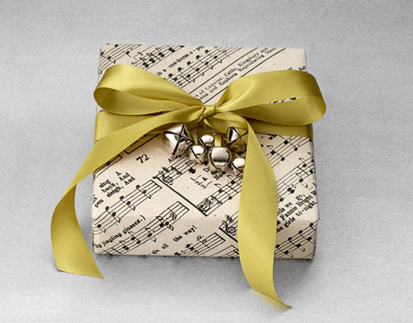 Sheet music wrap from countryliving.com