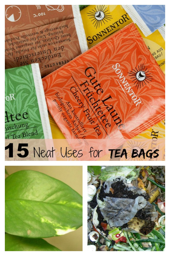 Tips for using tea bags in the home and garden-----------------