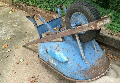 Winterize garden tools. Clean wheelbarrows.