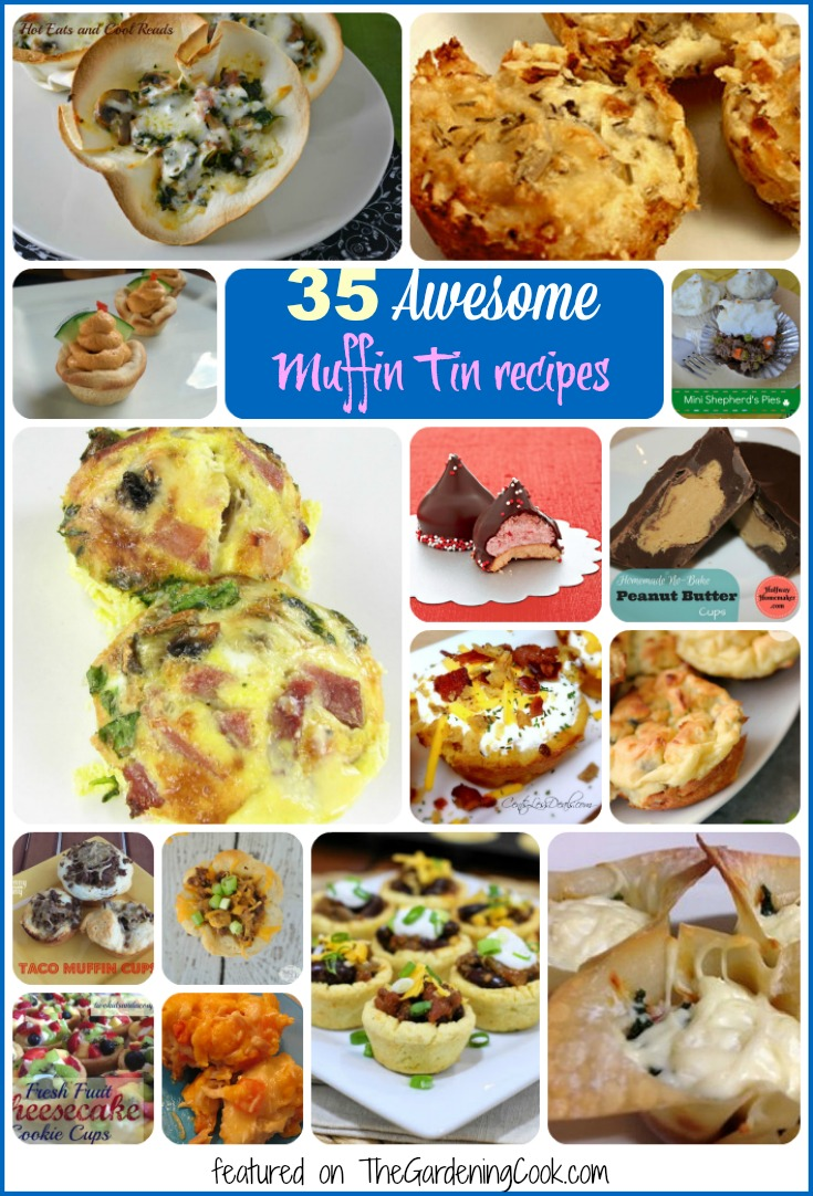 Muffin tins are not just for muffins! See my collection of 35 awesome muffin tin recipes