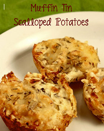 Muffin Tin Scalloped Potatoes from lorisculinarycreations.com