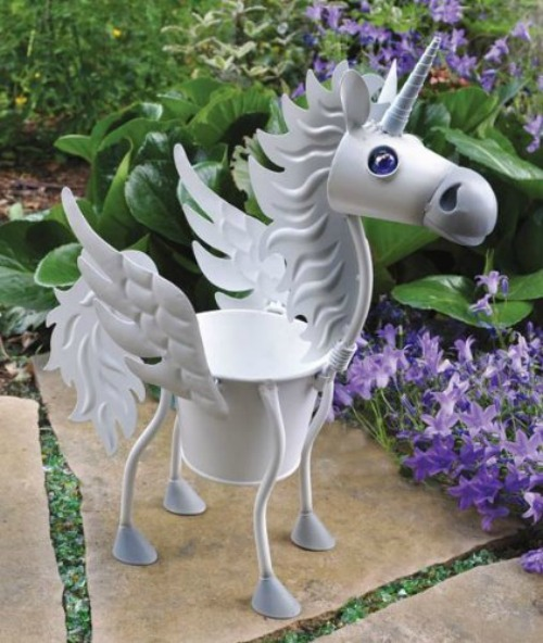 Virginia the unicorn plant holder