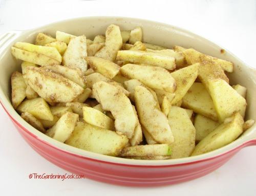 Gluten free apple crumble filling