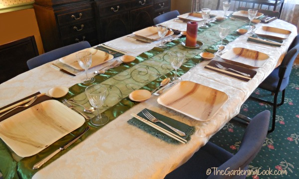 Eco-friendly Asian dinner party bamboo tablescape