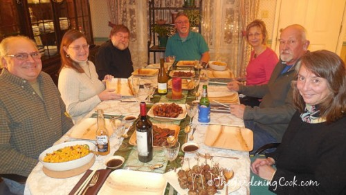 My guests at the eco friendly dinner party