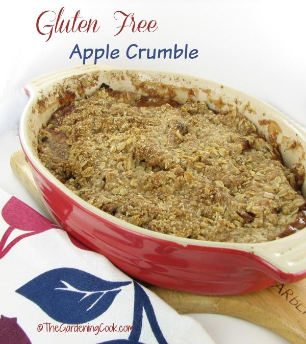 Gluten free apple crumble