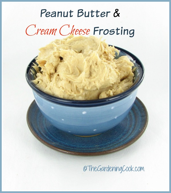 Pdeanut butter cream cheese frosting