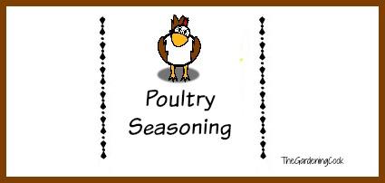 FREE poultry seasoning label