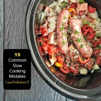 15 common crock pot mistakes