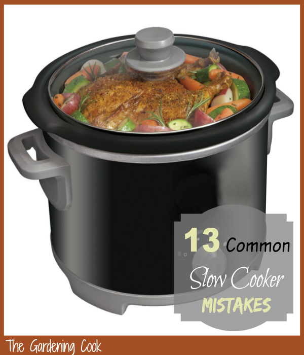 """a crock pot is not just """"set and forget."""" See these common 13 slow cooker mistakes."""