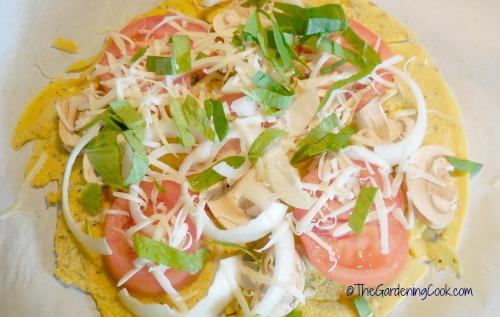 Gluten Free Tomato Mushroom Pizza