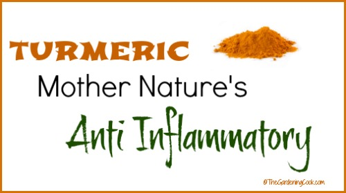 Turmeric contains curcumin which is a natural anti inflammatory