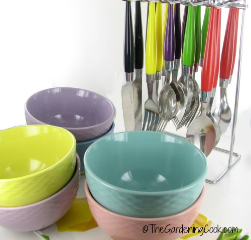 bowls and cutlery