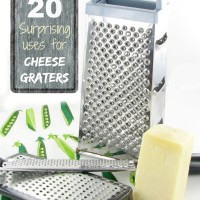 20 creative ways to use a cheese grater - thegardeningcook.com/20-surprising-uses-for-a-cheese-grater