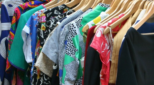 dresses in closet