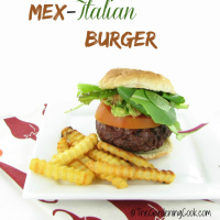 It's grill time with a Mex Italian Burger. Get the recipe thegardeningcook.com/