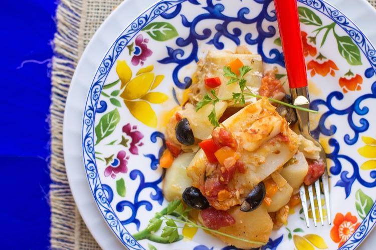 Salted codfish casserole
