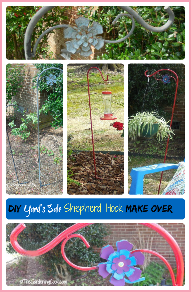 DIY Yard's Sale Shepherd's Hook Make Over