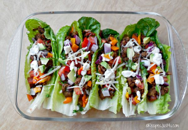Lettuce makes a great substitute for tortillas