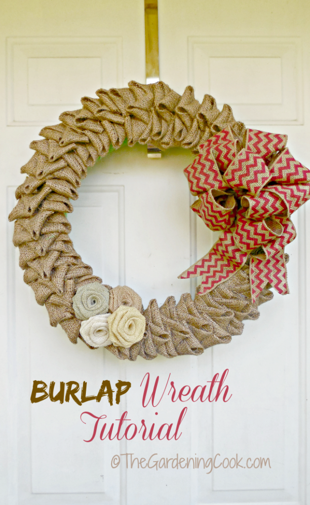 My burlap wreath Tutorial features the step by step instructions to making this lovely door decoration. thegardeningcook.com/burlap-wreath-tutorial
